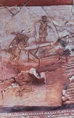 The Healing of the Paralytic – the oldest known image of Jesus, from the Syrian city of Dura Europos, dating from about 235 AD