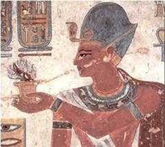 A depiction in the tomb of Rameses III shows a female servant preparing a meal of lentils.