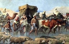 Jacob moves his family to Egypt to be with Joseph - Arist unknown