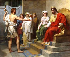 John the Baptist rebukes King Herod - Unknown Artist