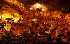 The Lake of Fire - Artist Unknown