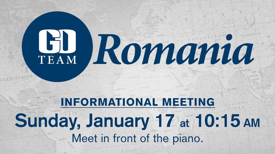 GO Team Romania Informational Meeting