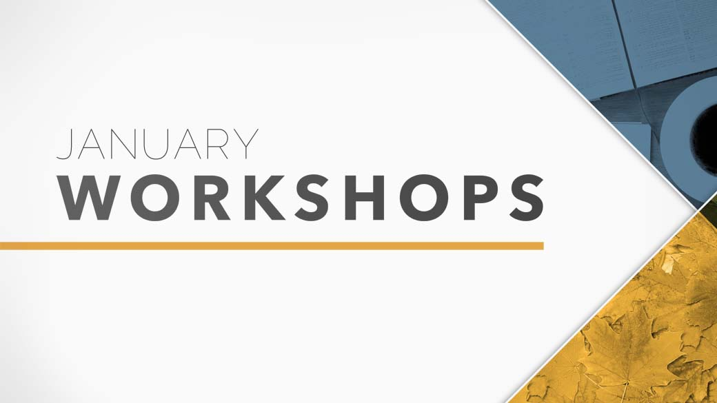 January 2017 Workshops