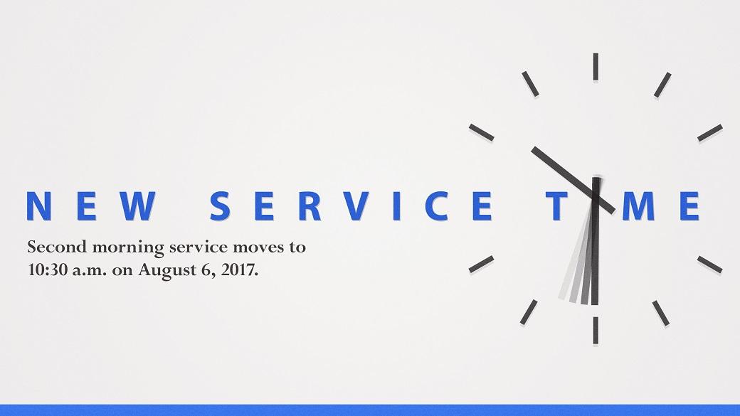 Service Time Change