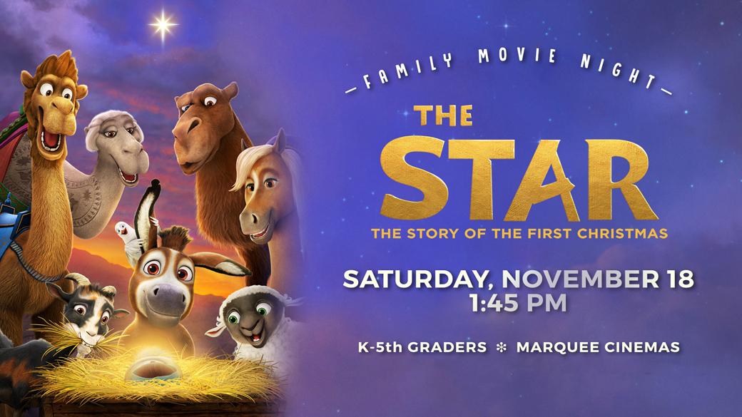 Family Movie Night: The Star (K-5th)