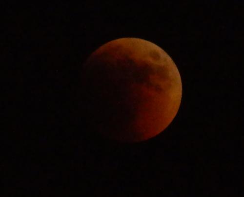 — Pleine lune plongée dans la pénombre avant d'être totalement éclipsée - Jérusalem —