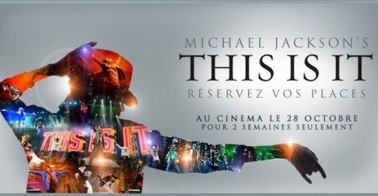 """- Affiche Française du film """"This is it"""" Michael Jackson Octobre 2009 -"""