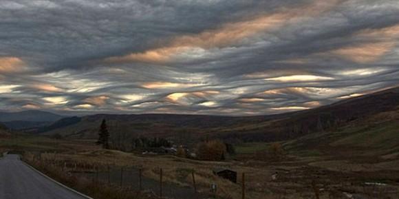 Type de nuages vus en Ecosse, en Nouvelle Zélande...