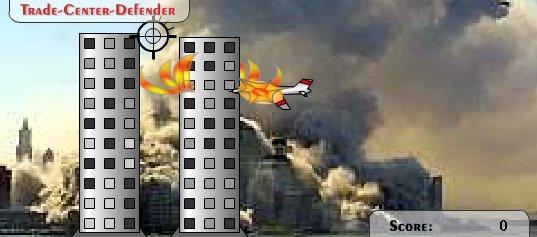 """Capture d'écran du jeu """"Trade Center Defender"""""""