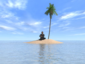 man on a deserted island