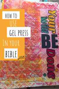 gel press bible journaling