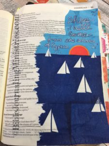 Bible journaling entry - Numbers