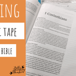 How to Add Washi Tape to Your Bible