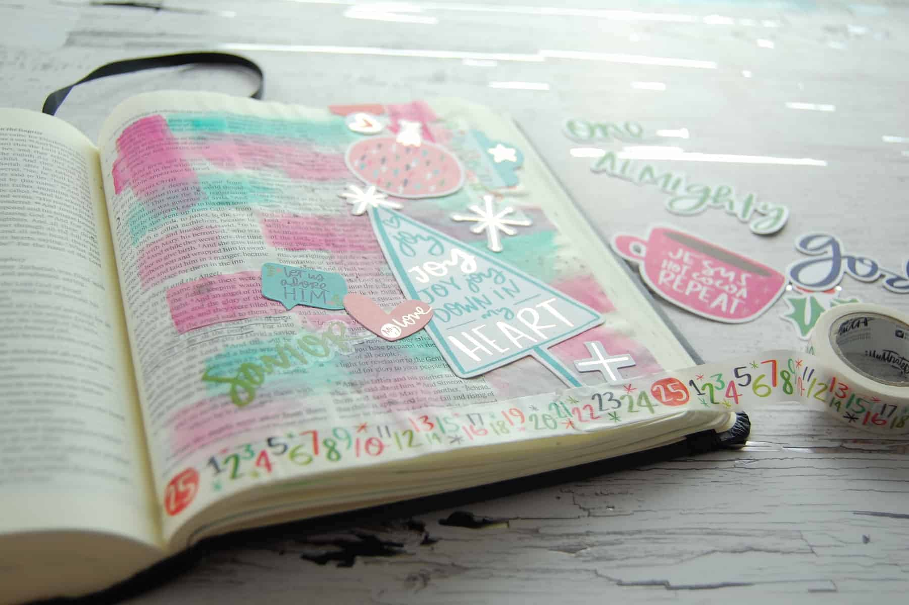 Illustrated Faith Advent Bible Journaling Kit - Sample page