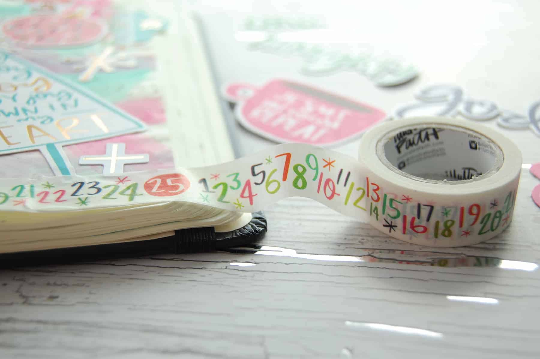 Illustrated Faith Advent Bible Journaling Kit advent washi tape