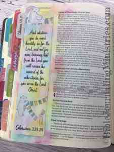 Bible journaling Colossians 3-23