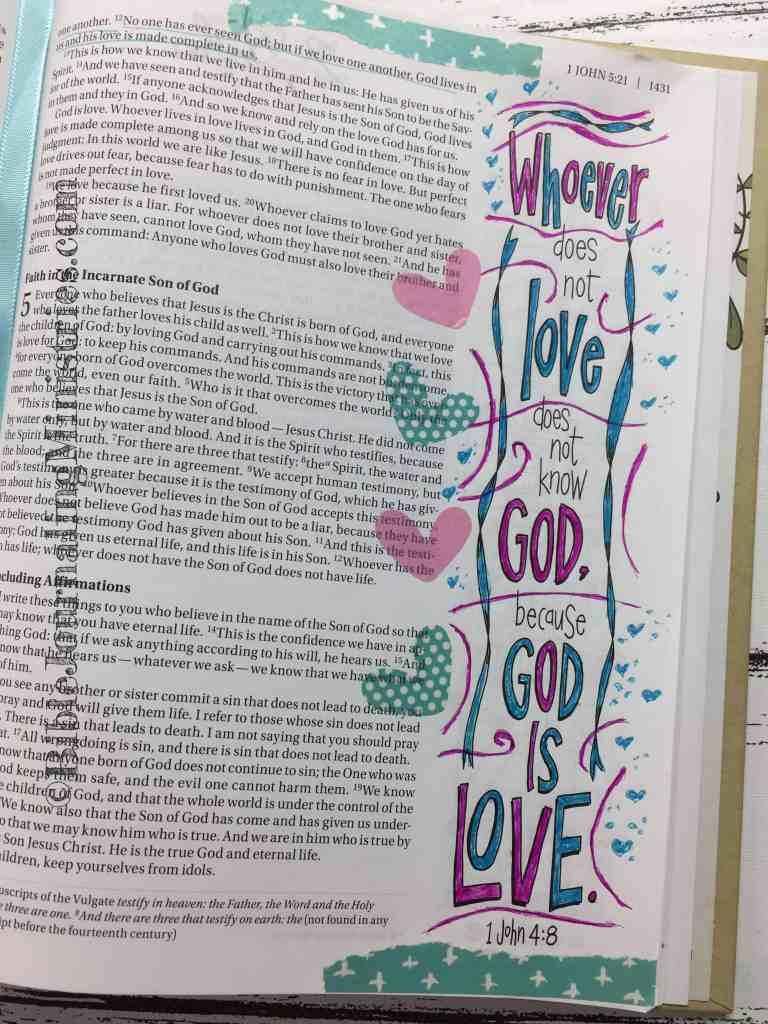 Bible Journaling 1 John 4:8