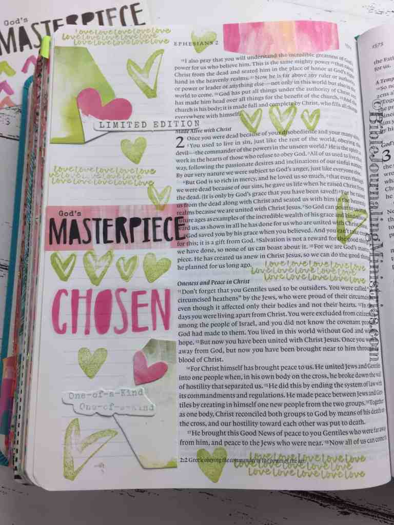 Bible Journaling Ephesians 2:10