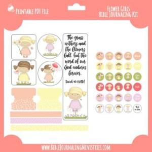 Flower Girls Digital Bible Journaling Kit