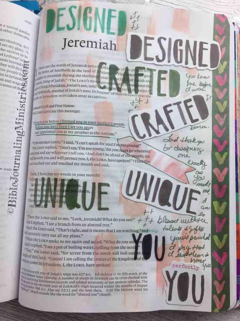 Bible Journaling Jeremiah 1:5