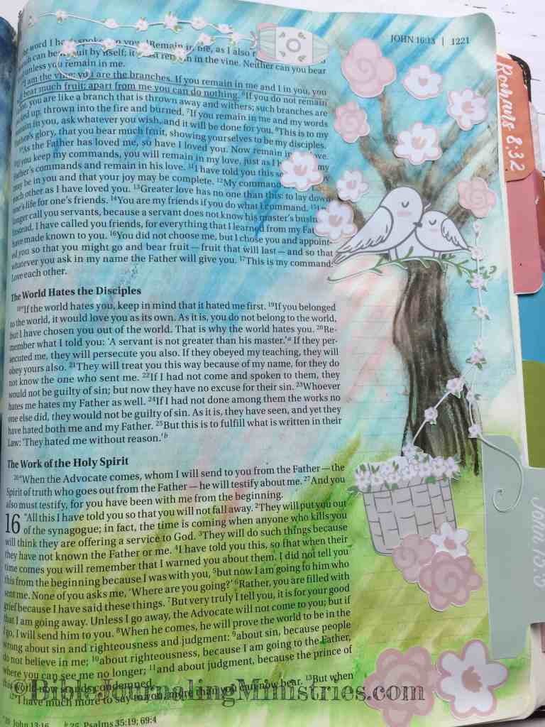 Bible Journaling John 15:5