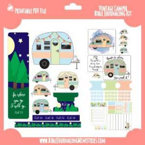 Ruth 1:16 Vintage Camper Digital Kit