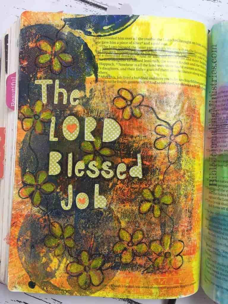 Bible Journaling Job 42:12