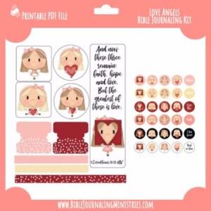 1 Corinthians - Love Angels Digital Bible Journaling Kit