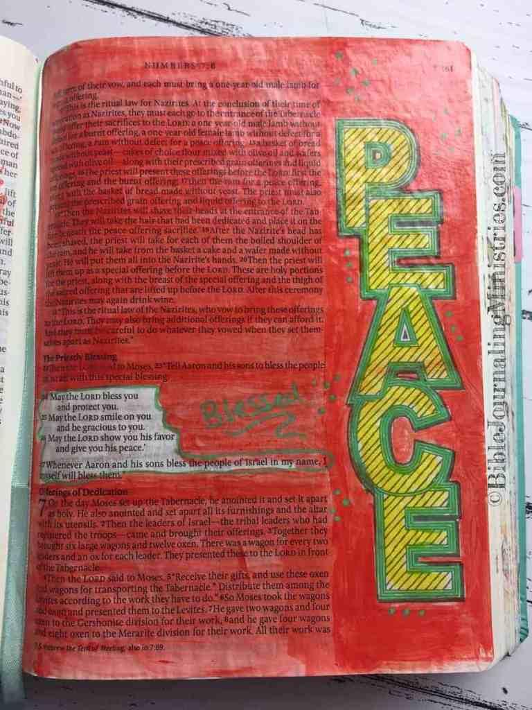 Bible Journaling Numbers 6:24-27