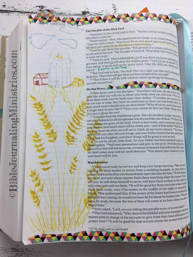 Bible Journaling Ministries Luke 12-15