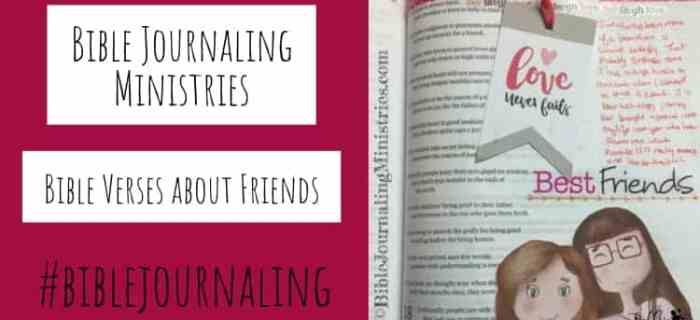 Bible Journaling Bible Verses About Friends