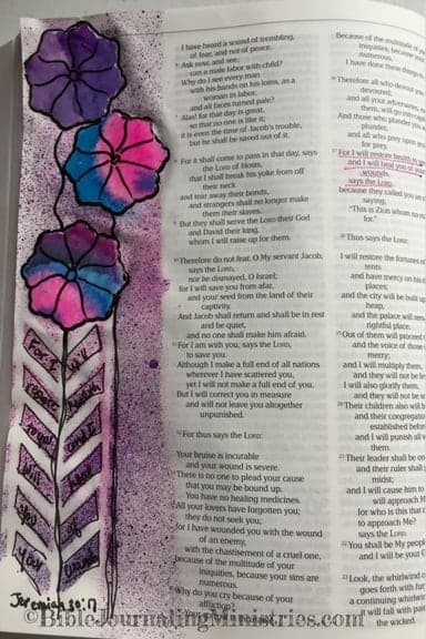 Bible Journaling Idea for Bible Verses About Healing Jeremiah 30.17