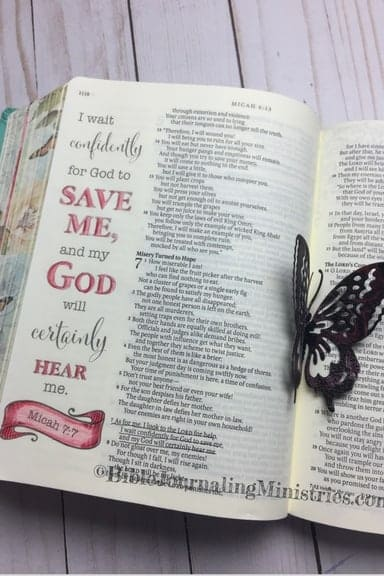 Bible Journaling in the Book of Micah Micah 7.7