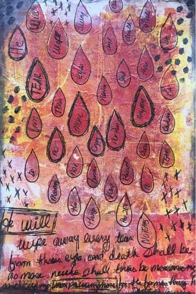 Bible Journaling Idea for Bible Verses About Healing Revelations 21.4