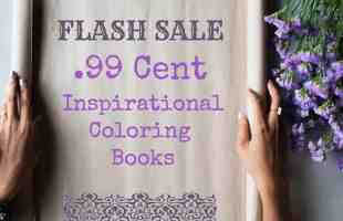 .99 Inspirational Coloring Book Sale