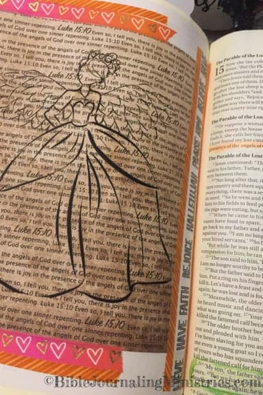 Bible Journaling Bible Verses About Angels Luke 15.10
