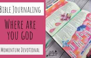 Bible Journaling With the Where Are you God? Momentum Devotional