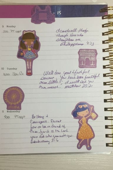 Bible journaling on a budget with Dollar Tree stickers 5