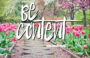 The Secret of Being Content – A Bible Journaling Devotional