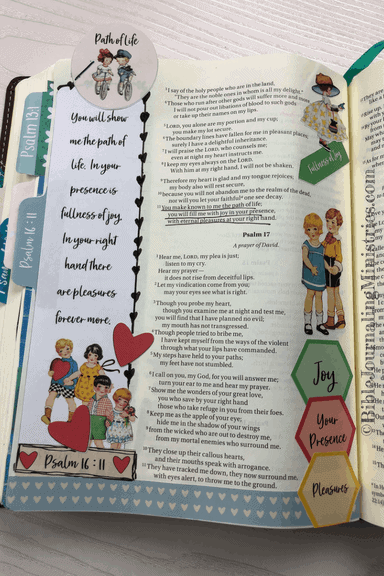 Joining the A Joyful Heart - Bible Journaling Study Psalm 16:11