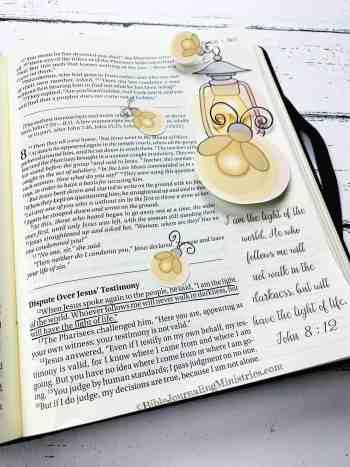 Merry Christmas Bible Devotional - John 8:12