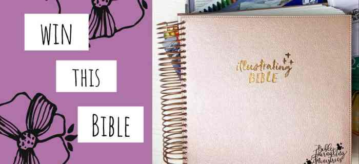 Win an Illustrating Bible or a Bible of Your Choice!
