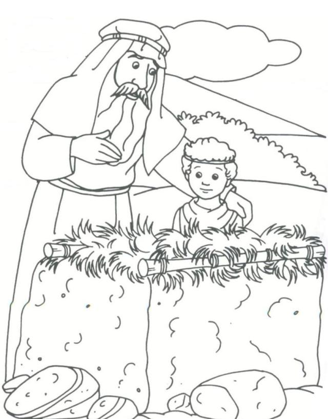 Abraham and isaac coloring pages for kids