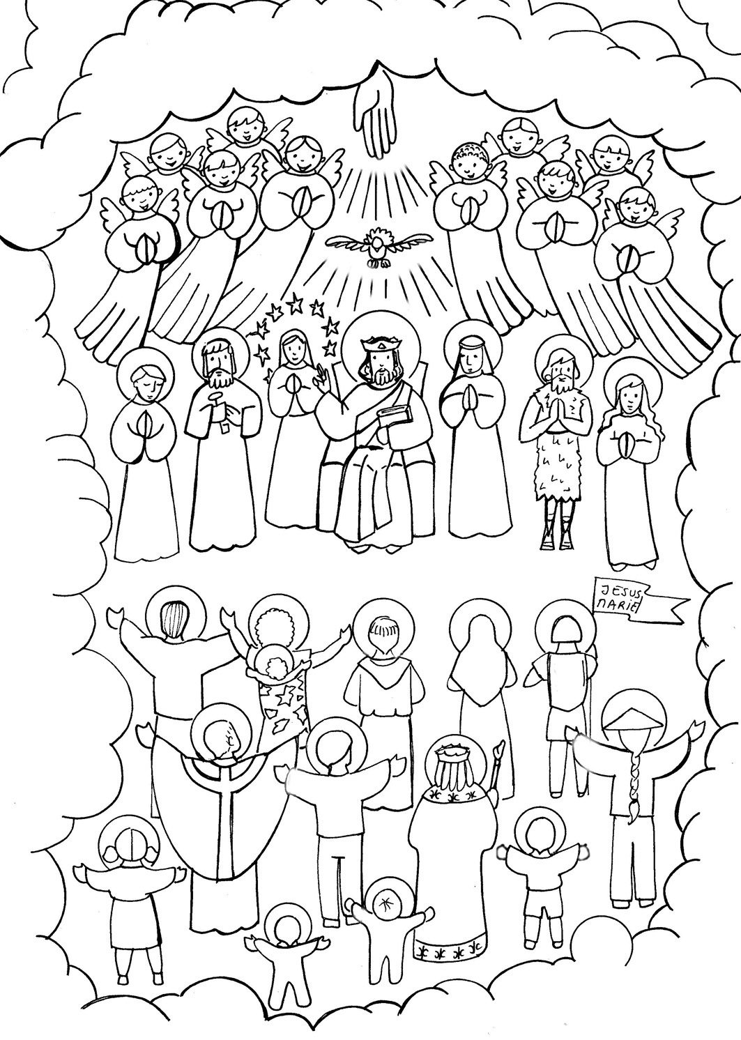 All Saints Day Coloring Pages Home Sketch Coloring Page