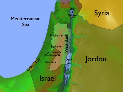 map of the Holy Land