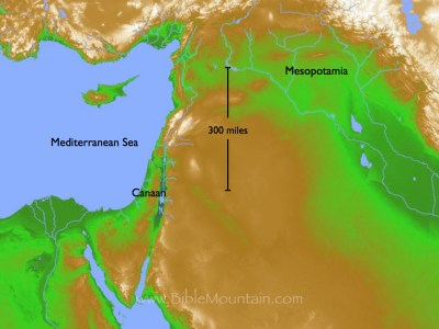 Map of Mesopotamia and Canaan