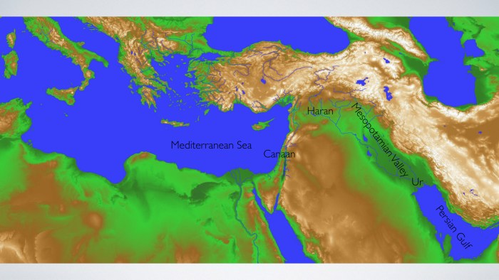 Topography of the Middle East