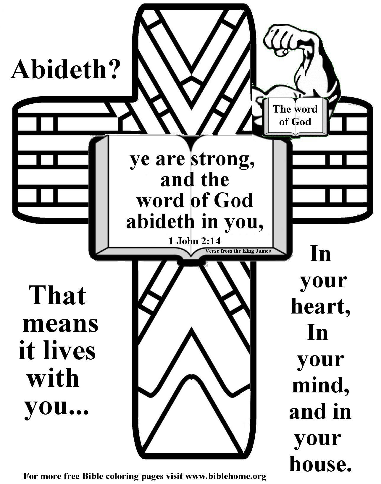 Free Bible Coloring Pages About Strength Plus Free Vbs