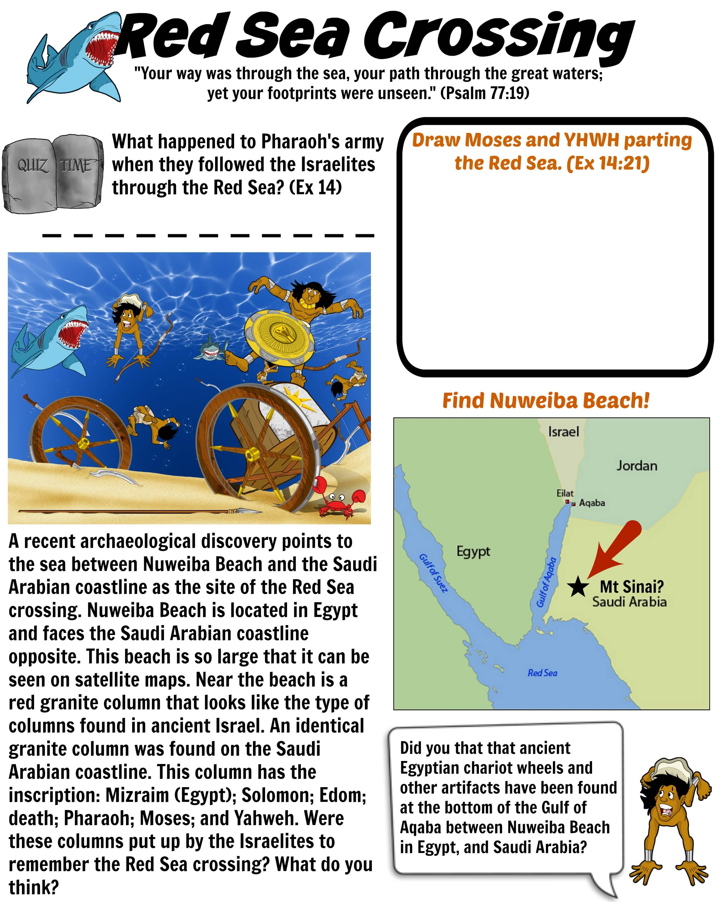Red Sea Crossing Bible Worksheet