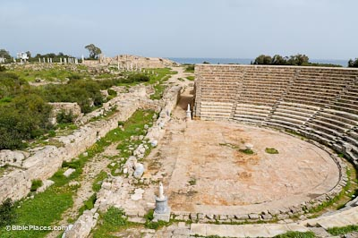 Salamis theater and gymnasium